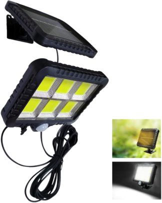 Luz Solar, lampara de pared con panel solar separable