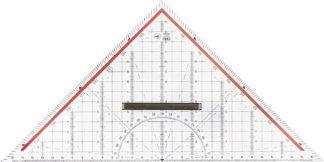 Escuadra de geometria 32 cm M+R 2332 - transparente