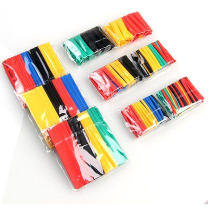 Tubo retráctil de 5 colores, funda de Cable de alambre 2:1
